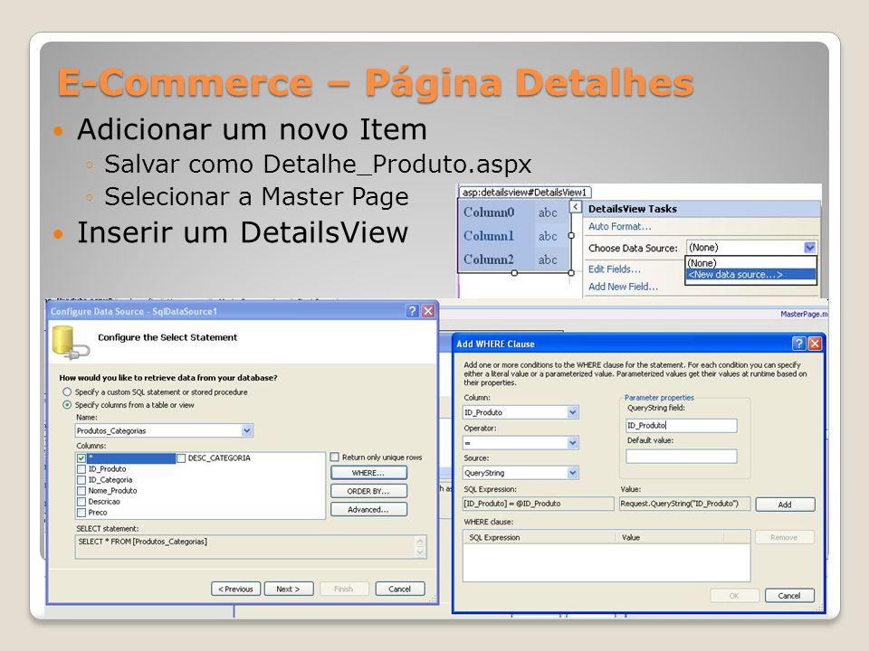 E-Commerce – Página Detalhes