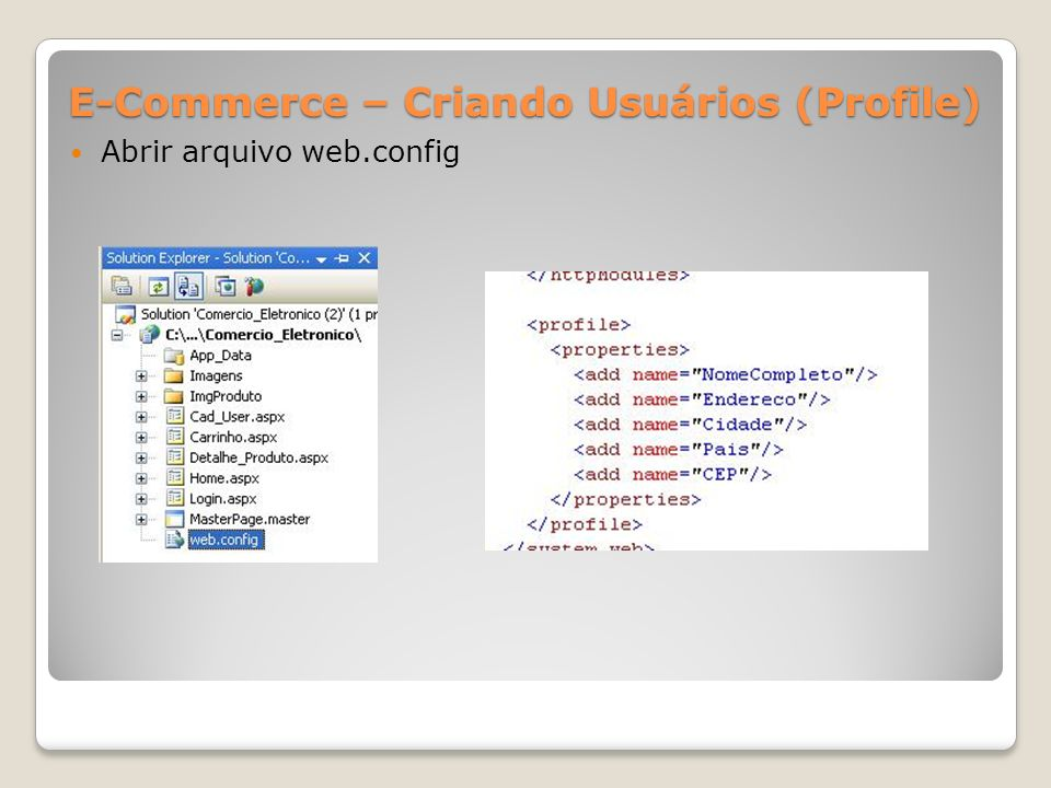 E-Commerce – Criando Usuários (Profile)