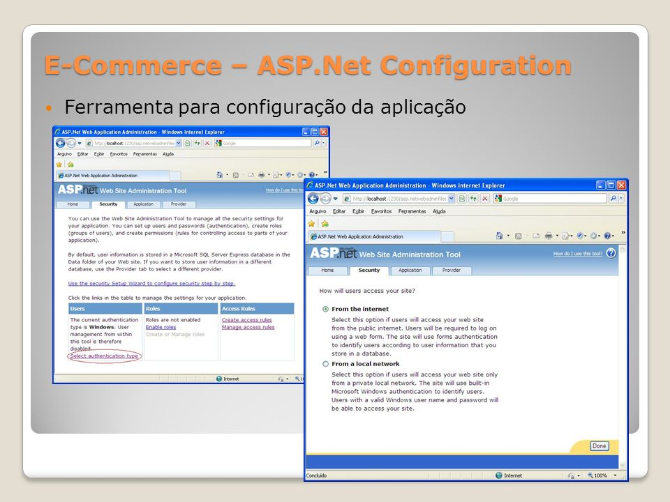 E-Commerce – ASP.Net Configuration