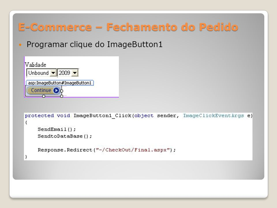 E-Commerce – Fechamento do Pedido