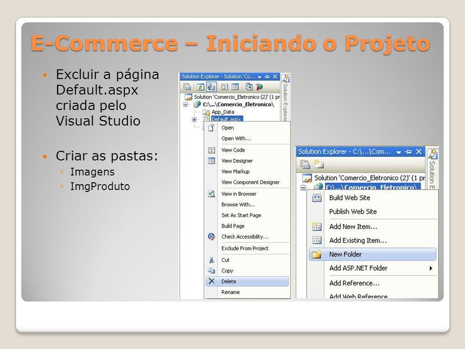 E-Commerce – Iniciando o Projeto