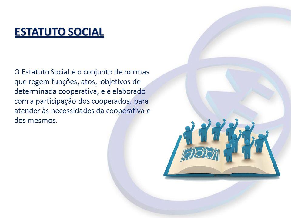 ESTATUTO SOCIAL O Estatuto Social é o conjunto de normas