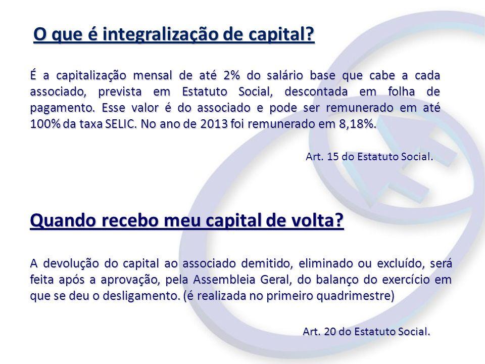 O que é integralização de capital