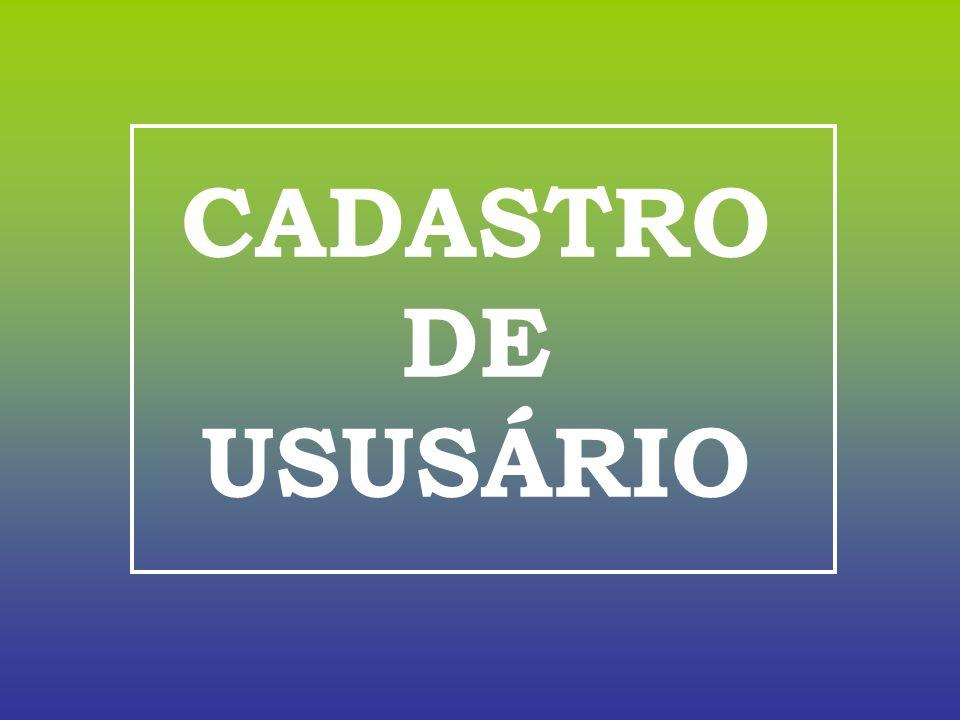 CADASTRO DE USUSÁRIO