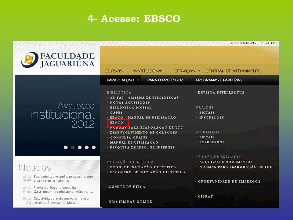 4- Acesse: EBSCO