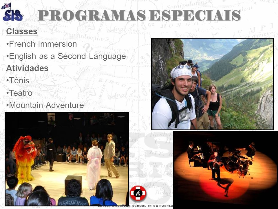 PROGRAMAS ESPECIAIS Classes French Immersion