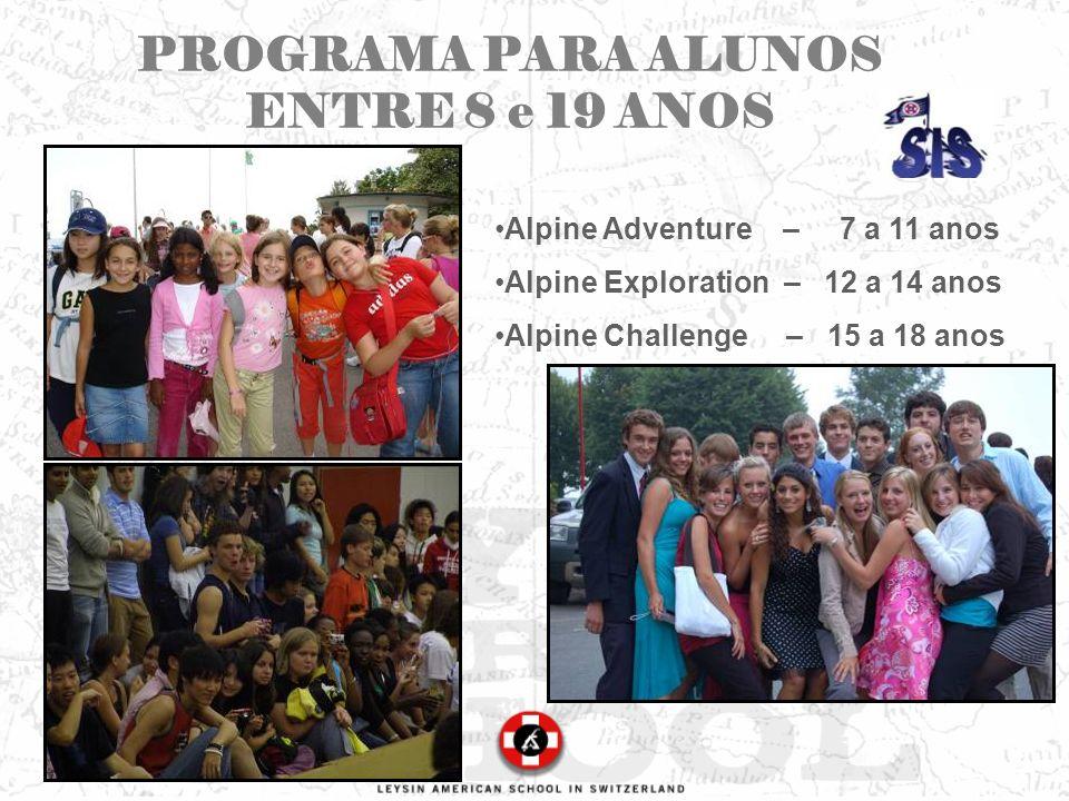 PROGRAMA PARA ALUNOS ENTRE 8 e 19 ANOS