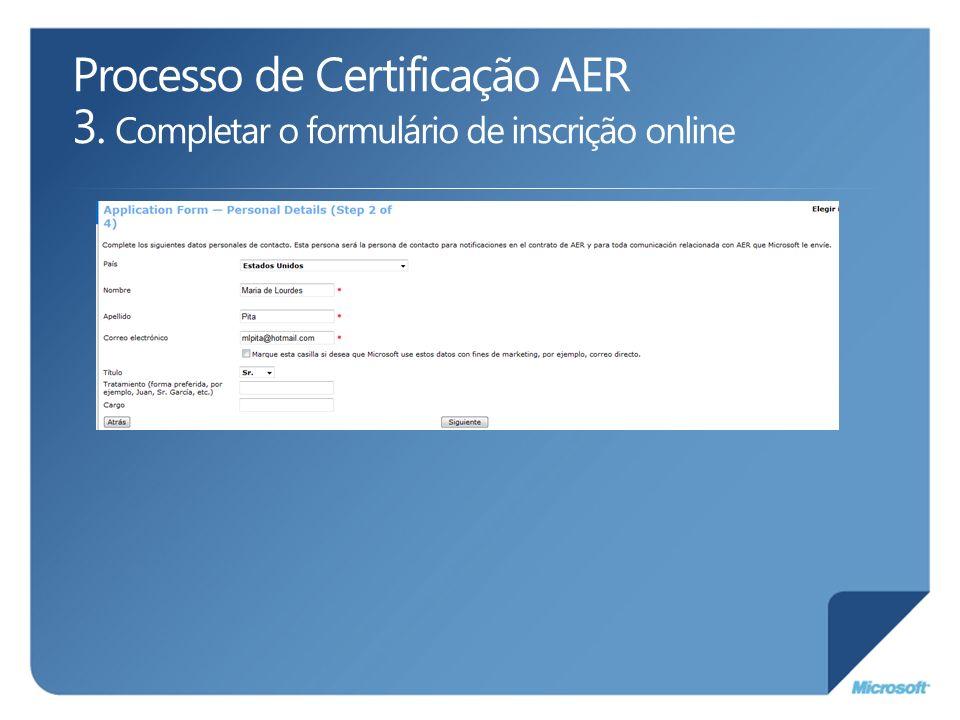 Processo de Certificação AER 3
