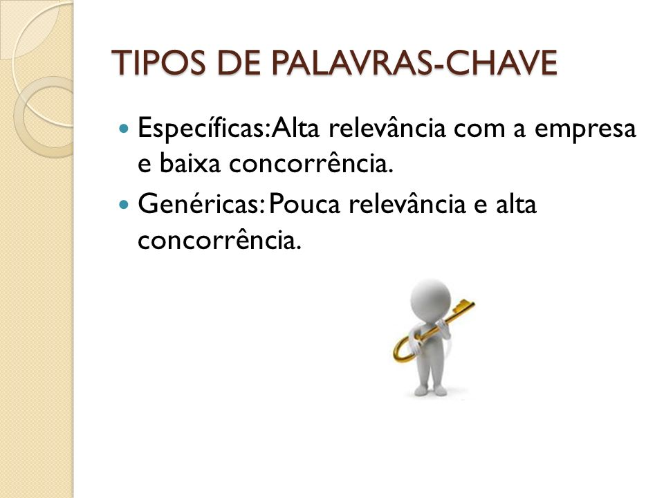 TIPOS DE PALAVRAS-CHAVE
