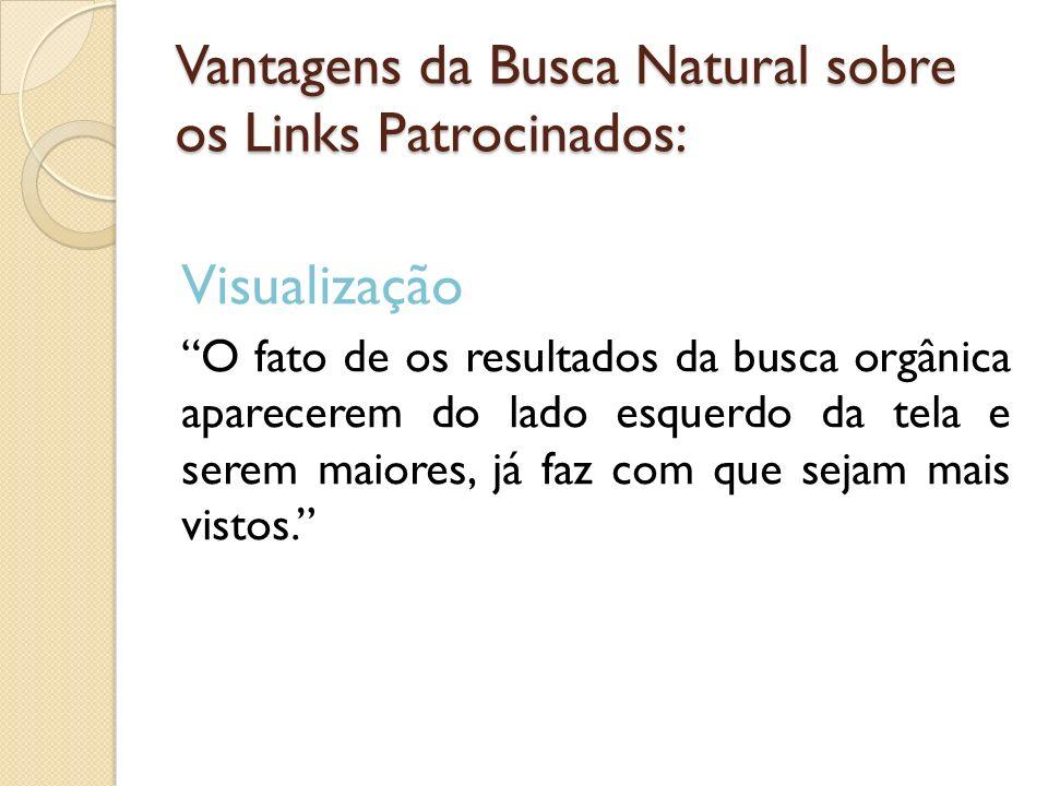 Vantagens da Busca Natural sobre os Links Patrocinados: