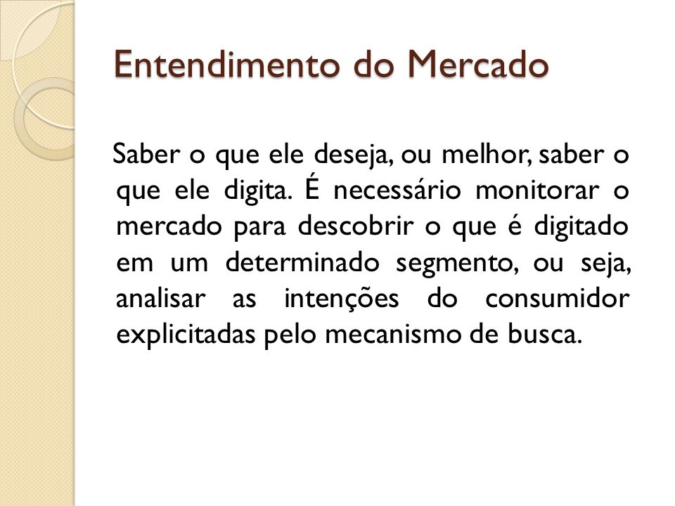 Entendimento do Mercado