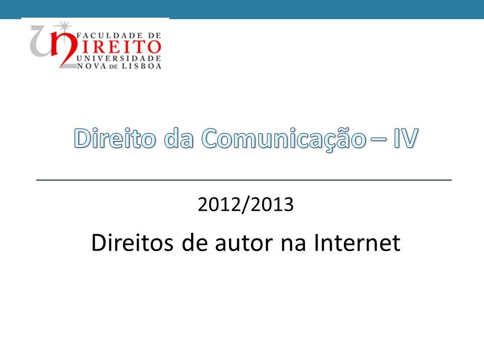 Direito da Comunicação – IV
