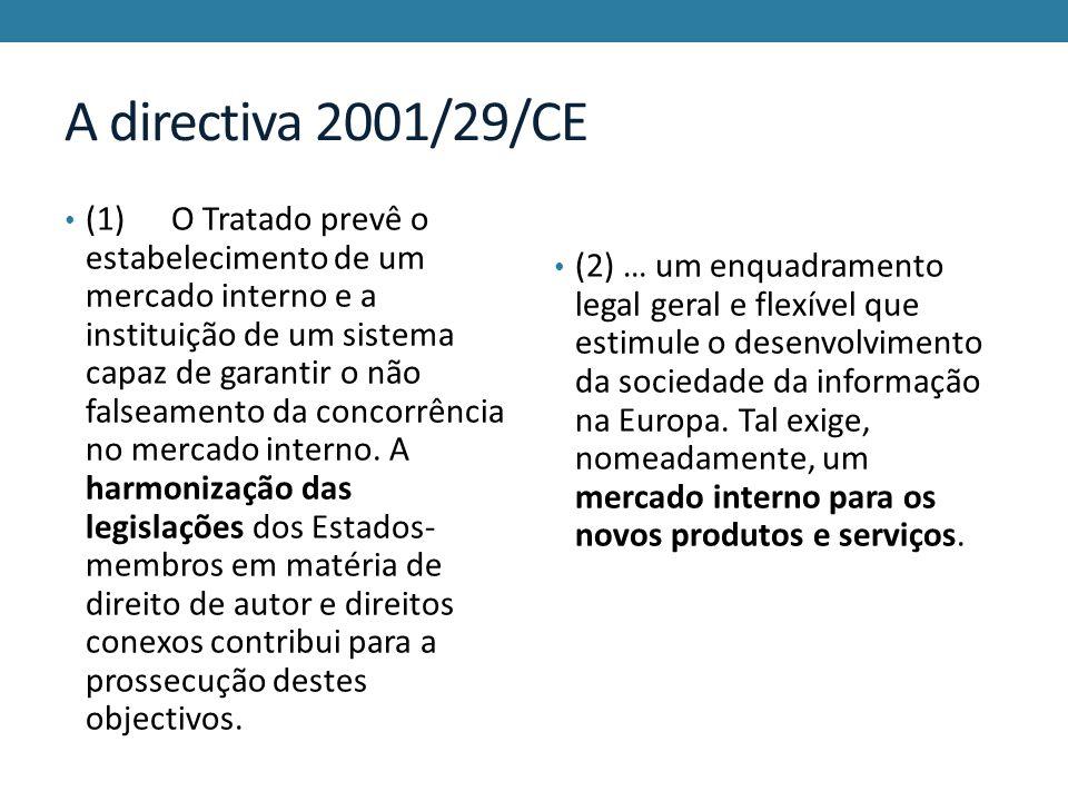 A directiva 2001/29/CE