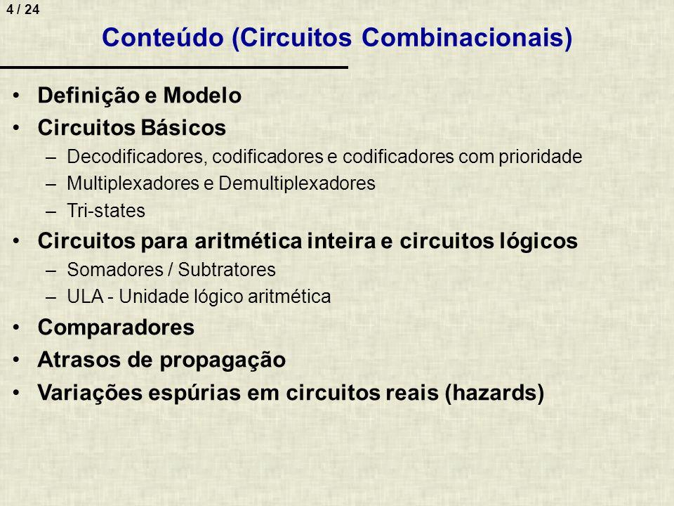 Conteúdo (Circuitos Combinacionais)