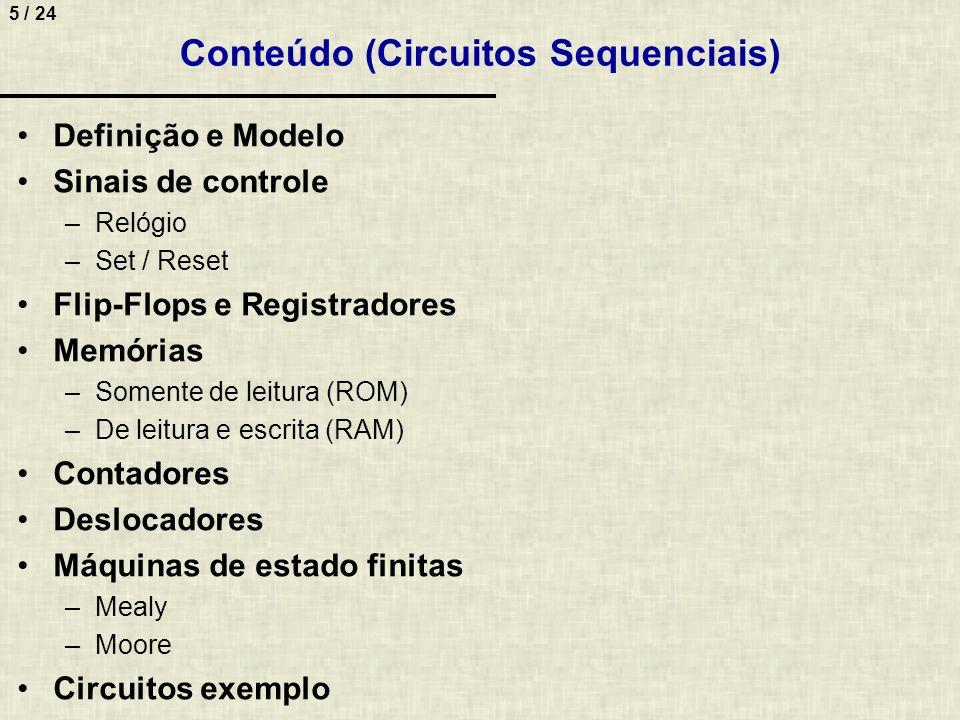 Conteúdo (Circuitos Sequenciais)