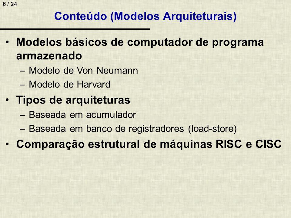 Conteúdo (Modelos Arquiteturais)