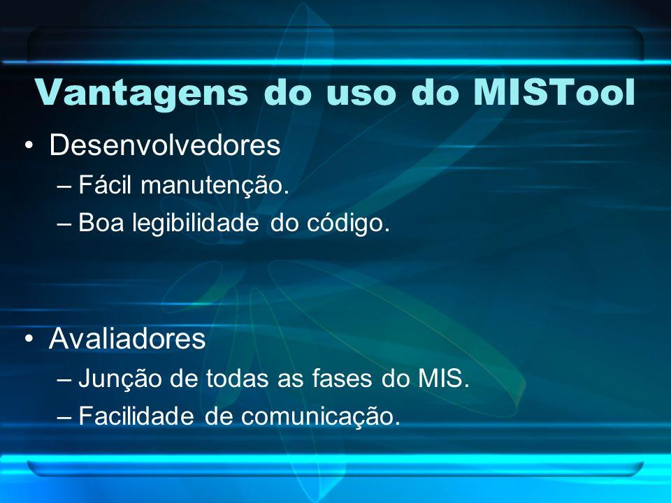 Vantagens do uso do MISTool