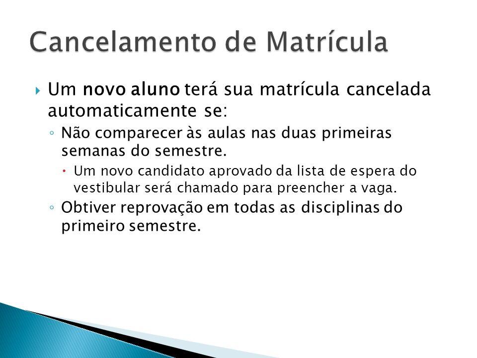 Cancelamento de Matrícula