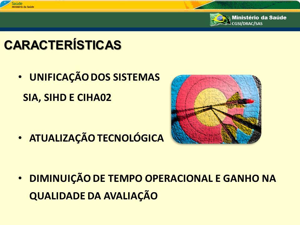 CARACTERÍSTICAS UNIFICAÇÃO DOS SISTEMAS SIA, SIHD E CIHA02