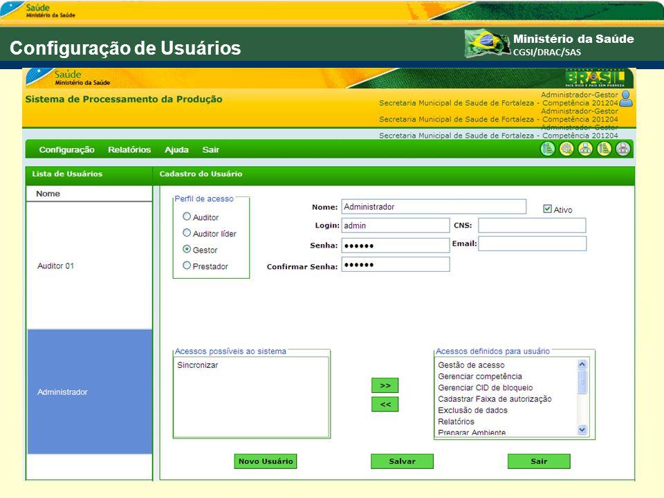Configuração de Usuários
