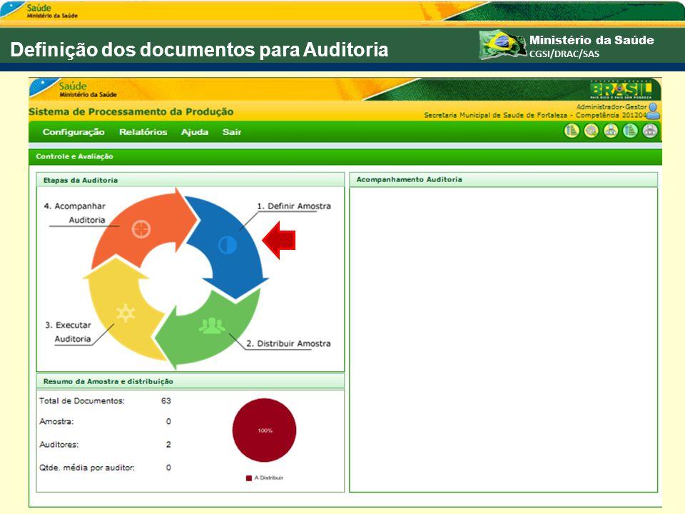 Definição dos documentos para Auditoria