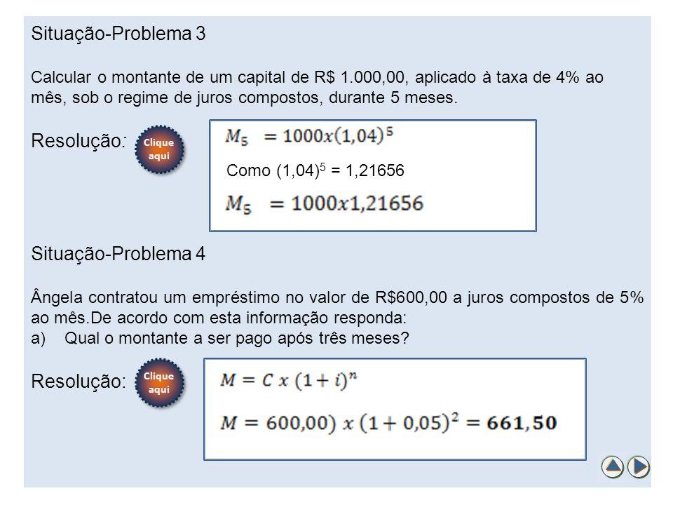 Situação-Problema 3 Resolução: Situação-Problema 4