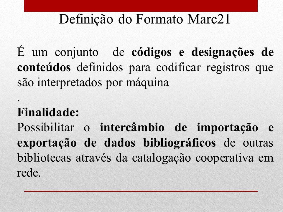 Definição do Formato Marc21