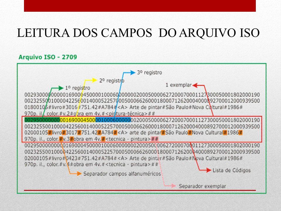 LEITURA DOS CAMPOS DO ARQUIVO ISO