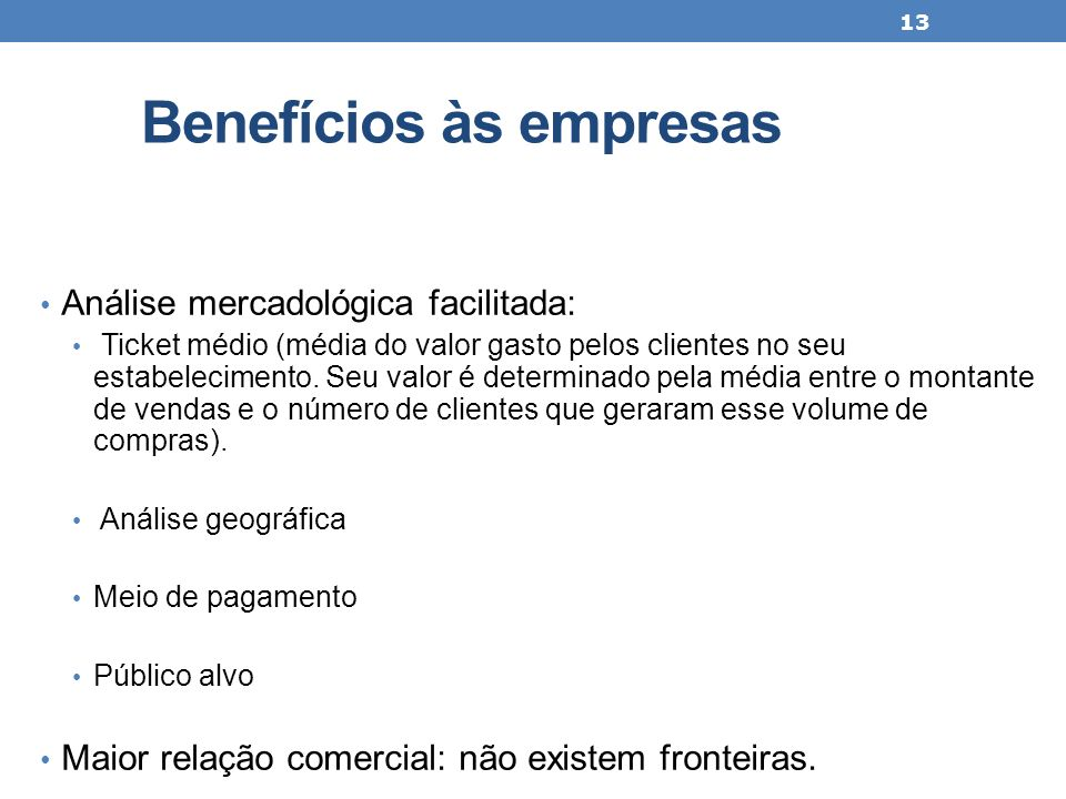 Benefícios às empresas