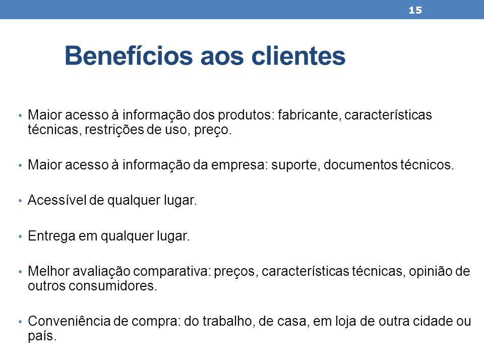 Benefícios aos clientes