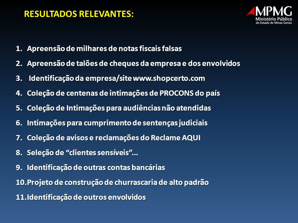 RESULTADOS RELEVANTES: