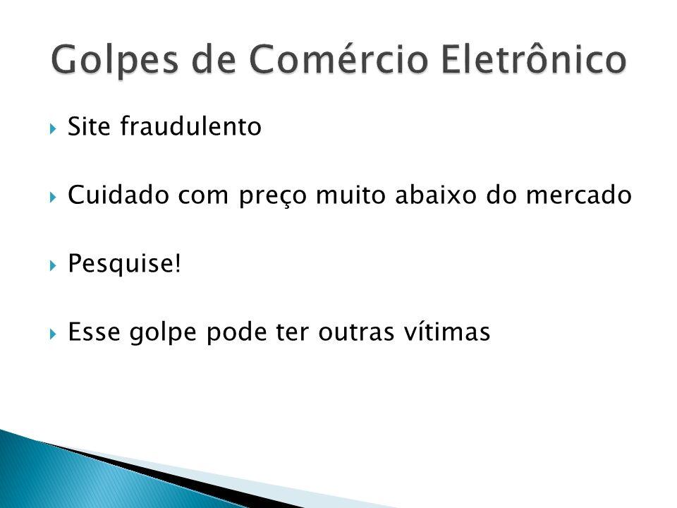 Golpes de Comércio Eletrônico