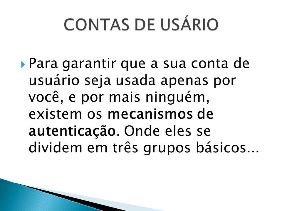 CONTAS DE USÁRIO