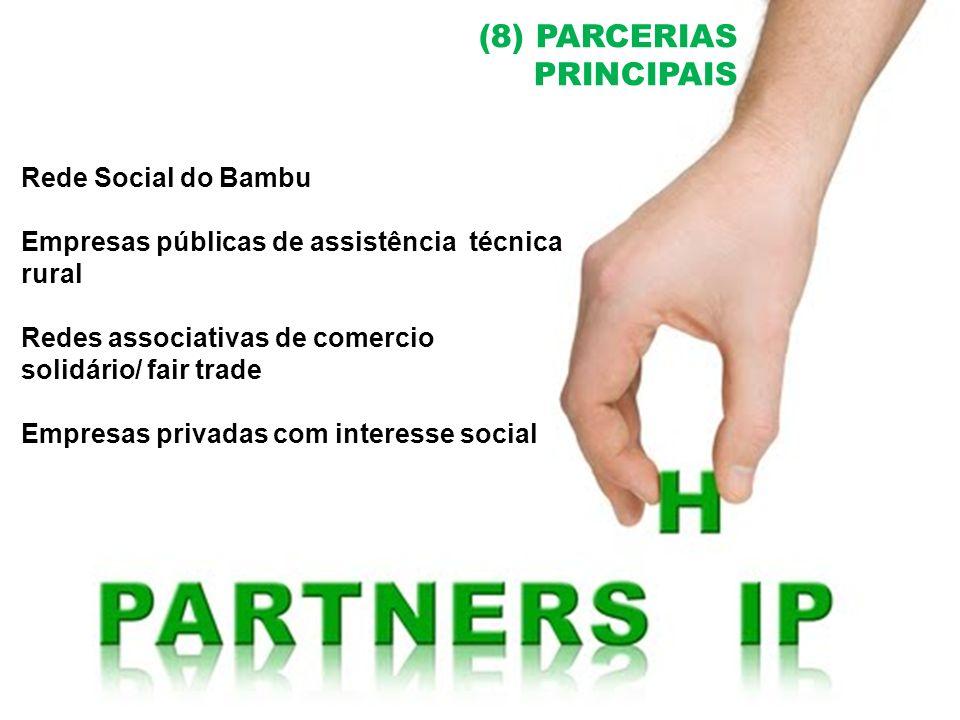 (8) PARCERIAS PRINCIPAIS Rede Social do Bambu