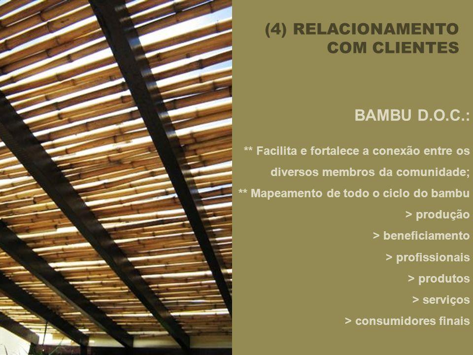 (4) RELACIONAMENTO COM CLIENTES