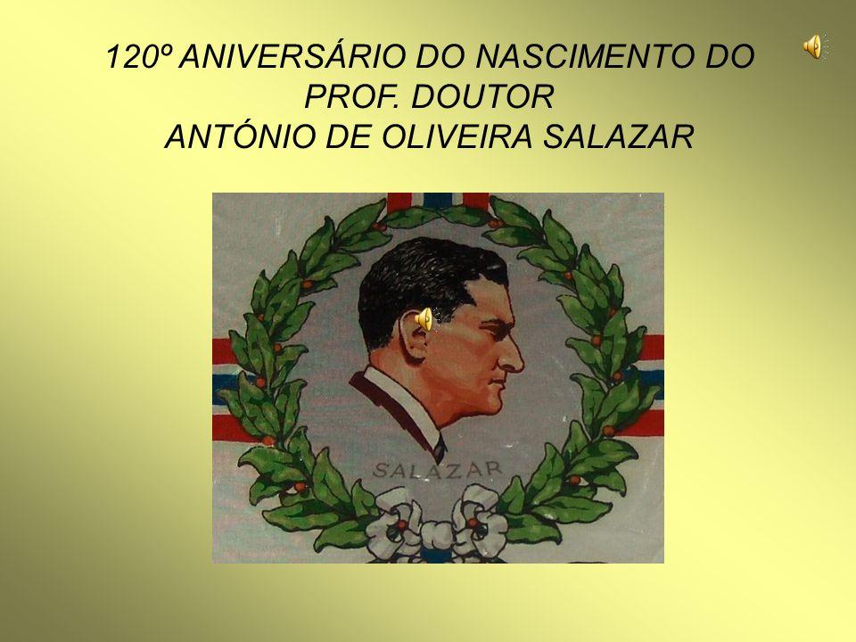 120º ANIVERSÁRIO DO NASCIMENTO DO PROF. DOUTOR