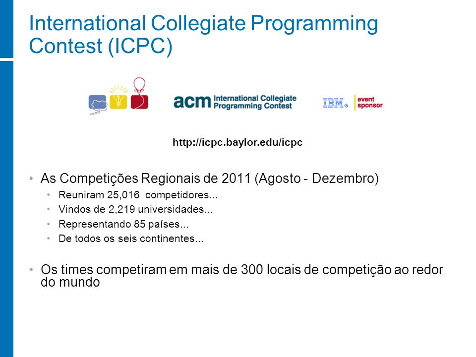 International Collegiate Programming Contest (ICPC)