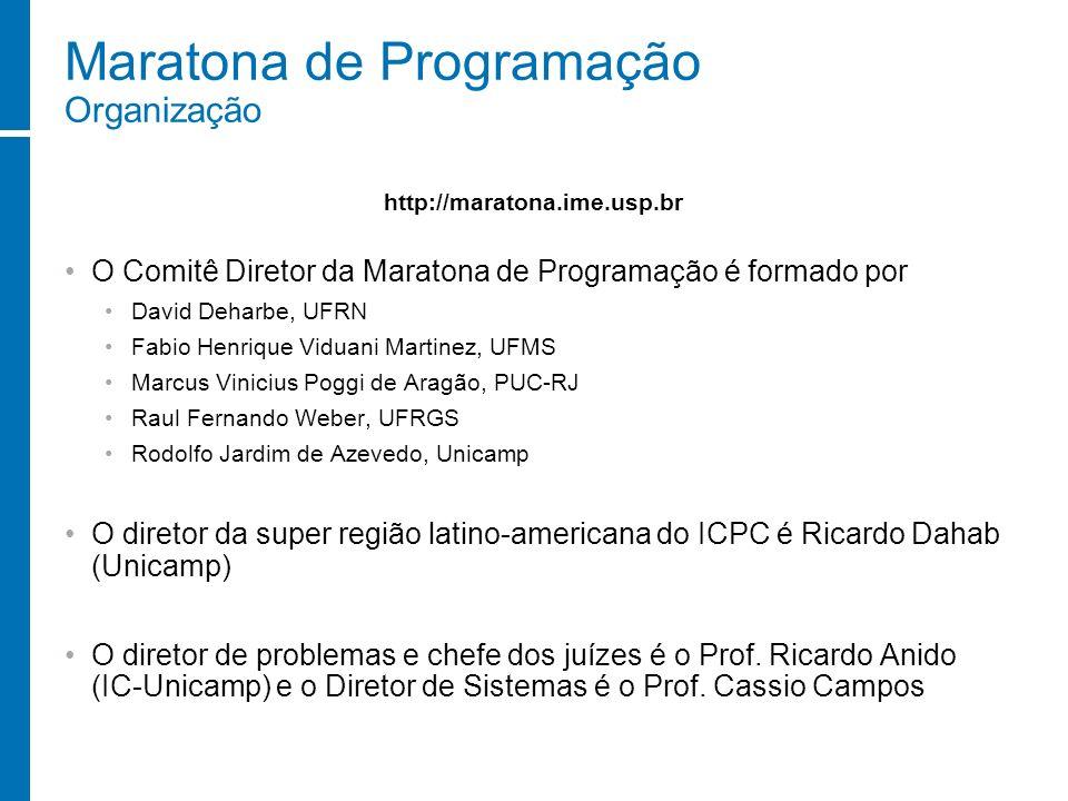 Maratona de Programação Organização