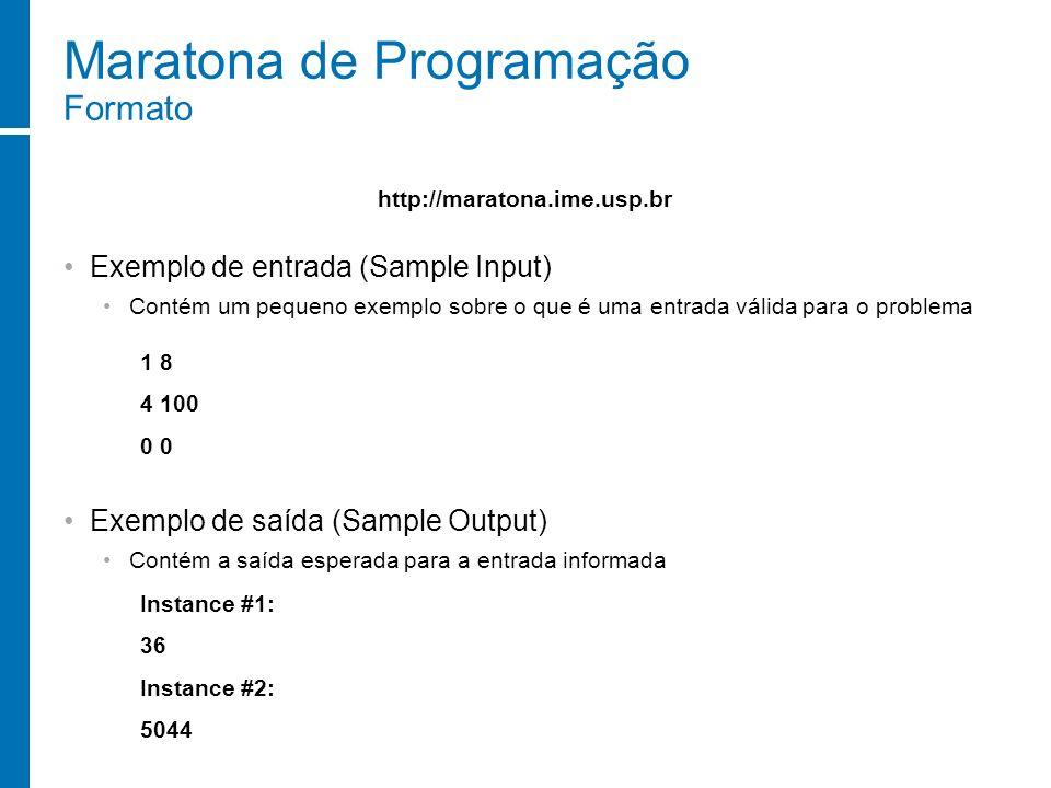 Maratona de Programação Formato