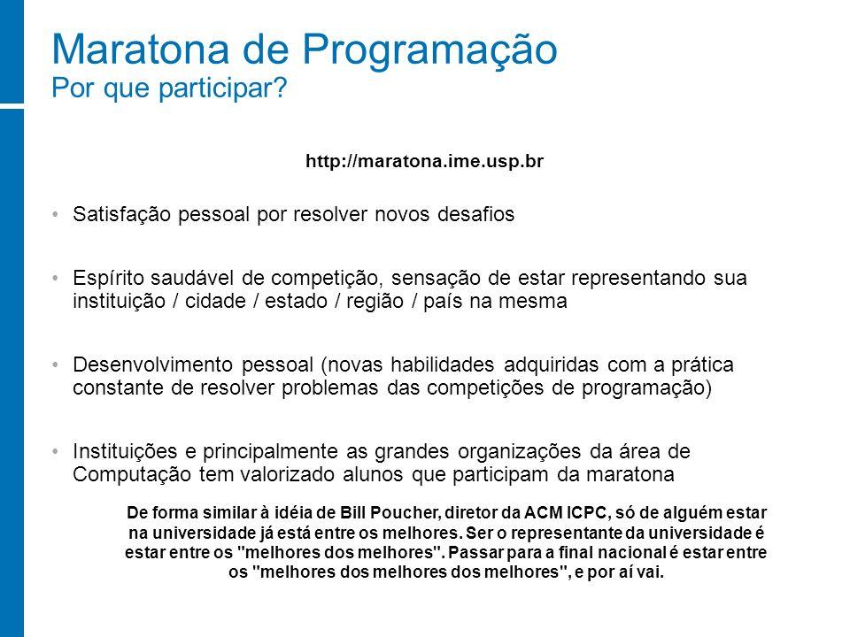 Maratona de Programação Por que participar