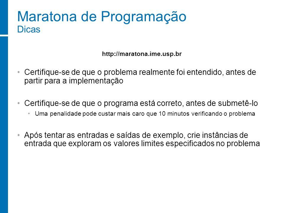 Maratona de Programação Dicas