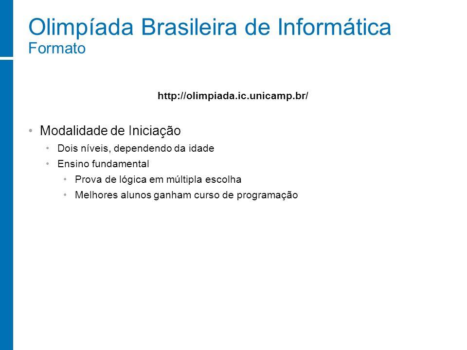 Olimpíada Brasileira de Informática Formato