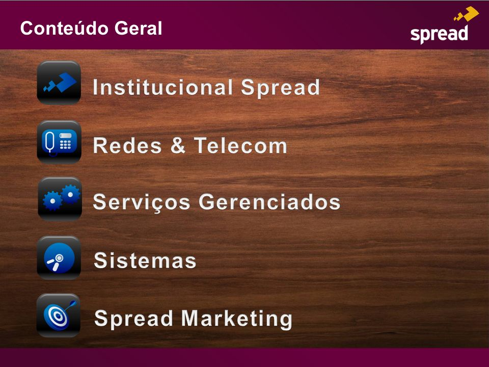 Institucional Spread Redes & Telecom Serviços Gerenciados Sistemas
