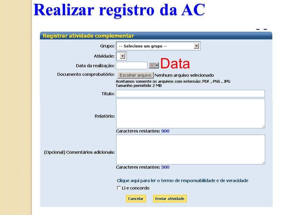 Realizar registro da AC