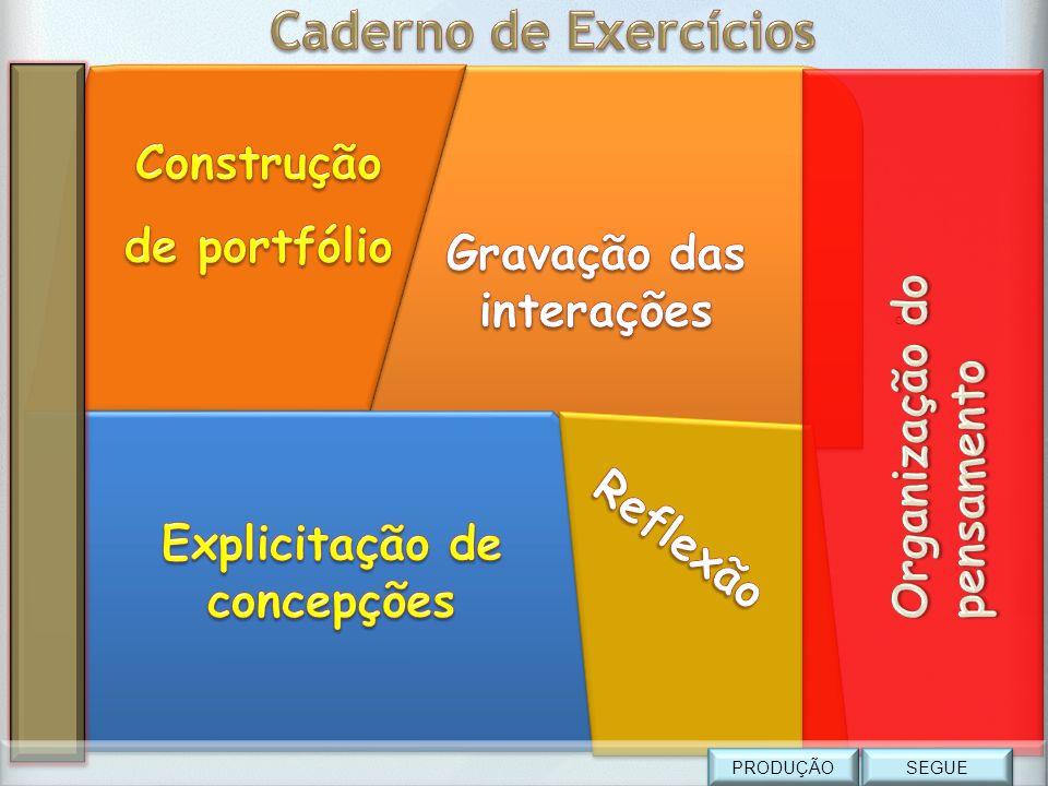 Caderno de Exercícios Construção de portfólio Gravação das interações