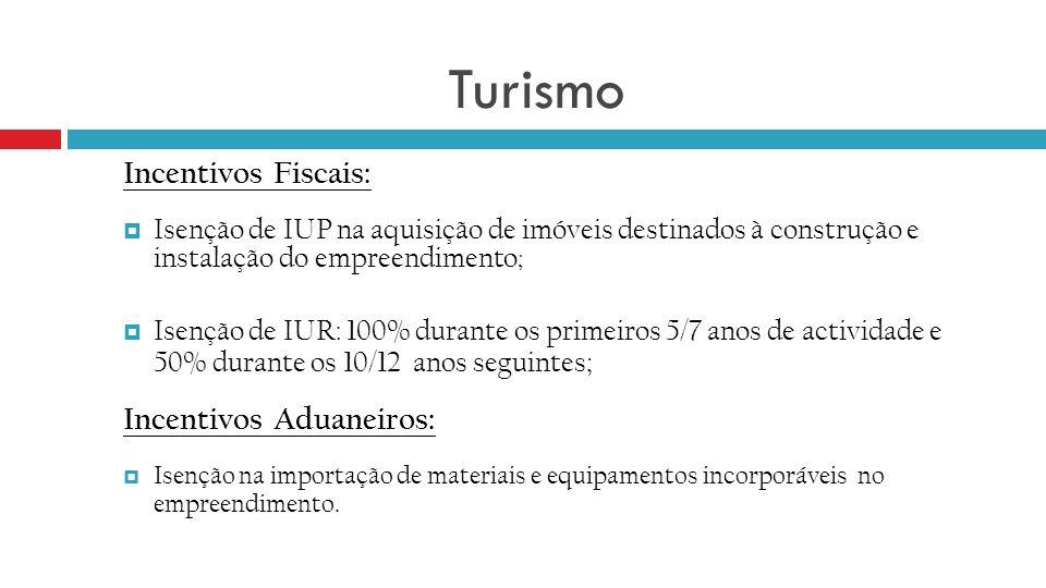 Turismo Incentivos Fiscais: Incentivos Aduaneiros: