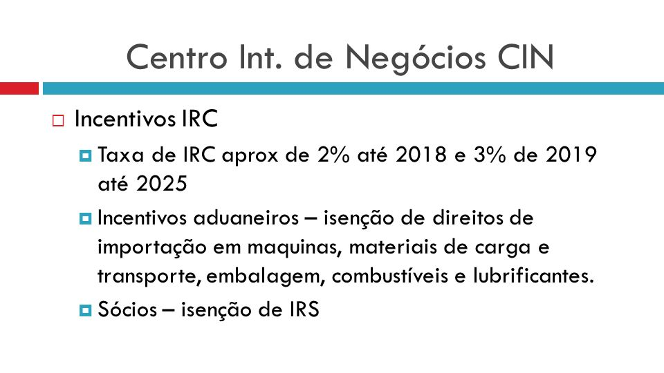 Centro Int. de Negócios CIN