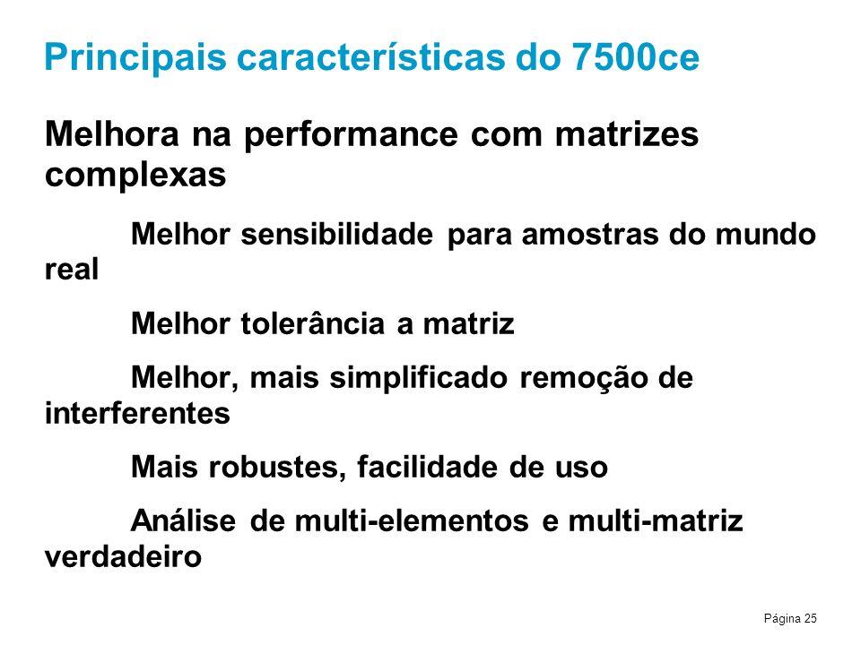 Principais características do 7500ce