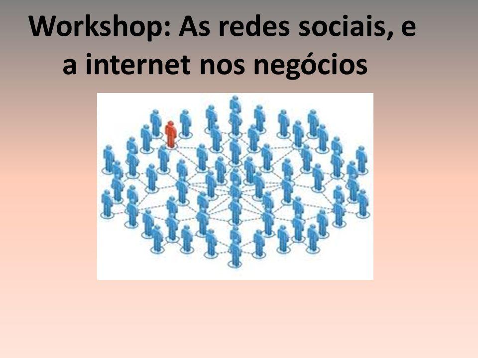 Workshop: As redes sociais, e a internet nos negócios