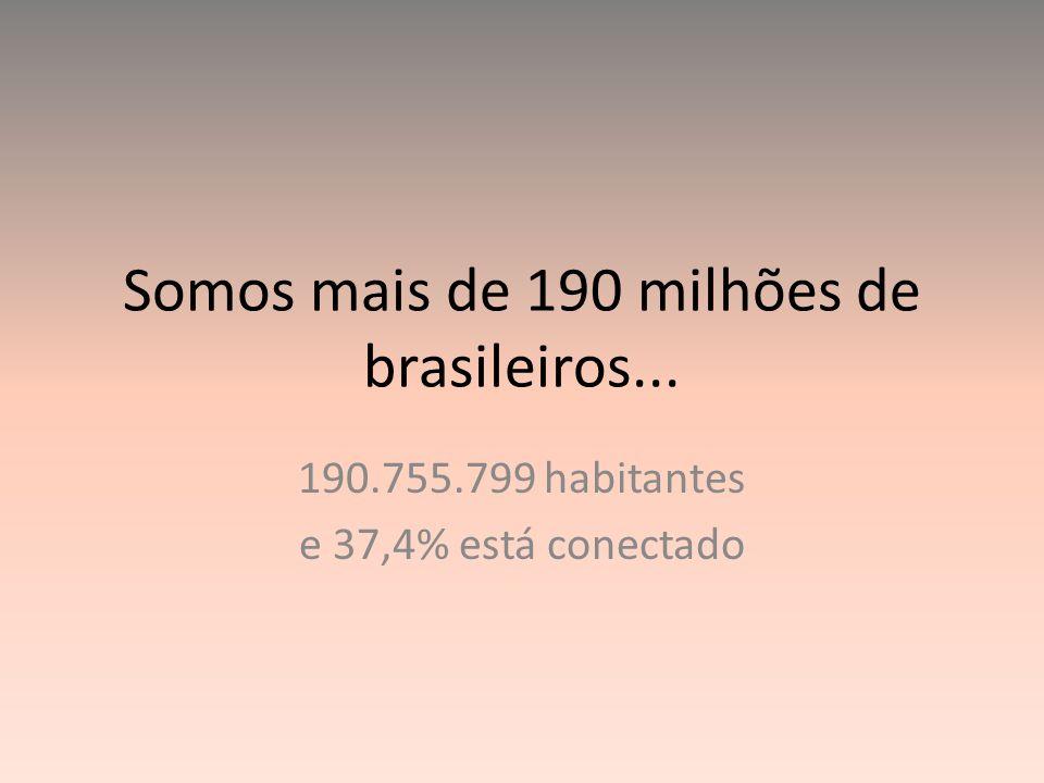 Somos mais de 190 milhões de brasileiros...